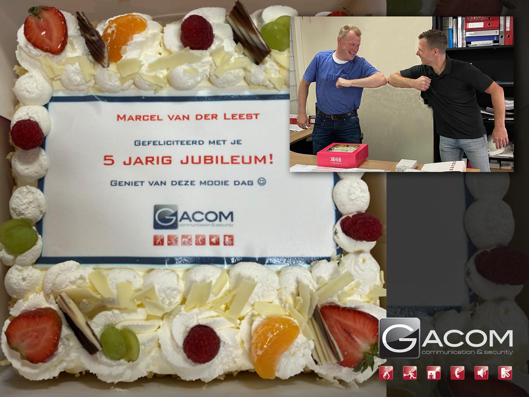 Gacom_Marcel van der Leest _5 jaar in dienst